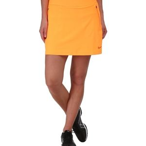 Nike Golf Womens Orange No Sew Skort